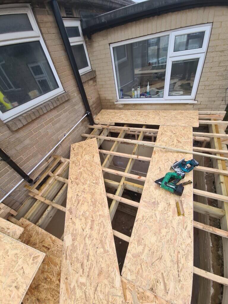 Felt roofing in Leeds underway