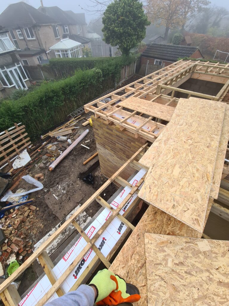 Project for GRP roofing in Leeds