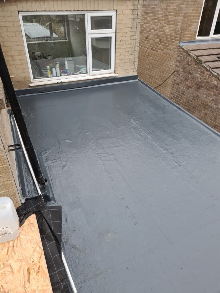 Finished fibreglass roof in Leeds