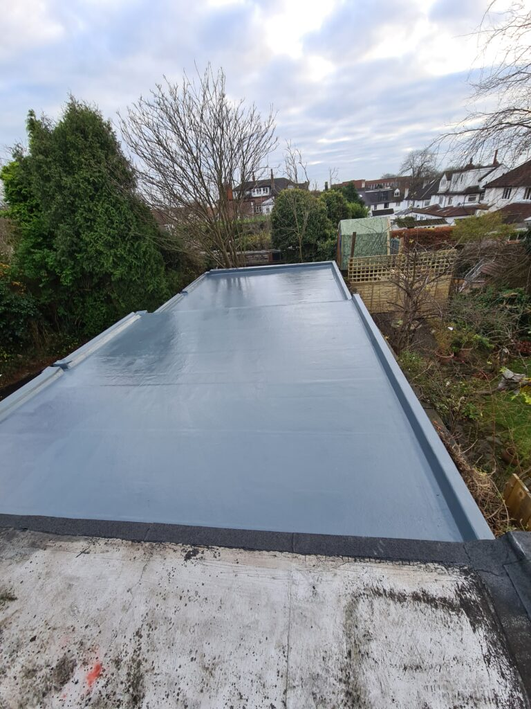 An example of a fibreglass roof in Leeds